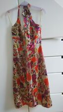 BNWT Monsoon Kai Mai Butterfly Halterneck Knee Length Summer Dress Size 10