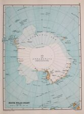 1894 MAP SOUTH POLAR CHART ANTARCTICA VICTORIA LAND ALEXANDER LAND