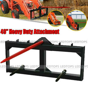 """Skid Steer Attachments 49""""Hay Spear 17""""Stabilizer Spears Tractor Quick Attach 1X"""