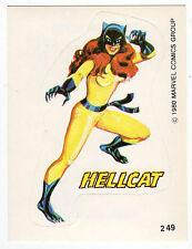 1980 Spanish Marvel Comics Superhero Terrabusi Trade Sticker - #249 - Hellcat