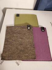 "DiVoga iPad Case Tablet Sleeve Pouch Lot of 3 GREEN Gray Purple 8 1/4"" X 10"""
