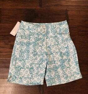 Adidas Women's Printed Golf Shorts Sz. 0 NEW TW6226S8