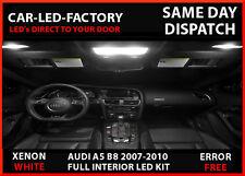 AUDI A5 B8 RS5 S5 2007-2010 FULL LED INTERIOR UPRGRADE LIGHTING SET 12 BULBS