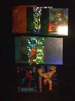 Marvel Card Lot - Assorted Holo, Chrome, Clear Superhero Cards!!