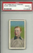 1910 E96 PHILADELPHIA CARAMEL HUGH JENNINGS PSA 2.5
