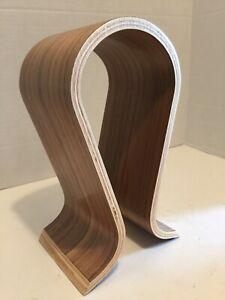 Wood Headset Headphone Stand Earphone Display Rack U Shape Holder Wooden