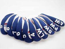 10X USA Flag Golf Head Cover Club Iron HeadCovers Protect set Neoprene FAST SHIP