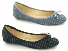 Ballerinas Striped Textile Flats for Women