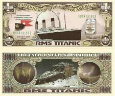 RMS Titanic Commemorative One Million Dollar Bills x 2 White Star Line 1912 New