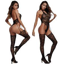 Women's Sexy sling Crotchless Bodysuit Lingerie Fishnet BodyStockings Underwear