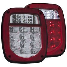 861082  ANZO Set of 2 Red Lens Tail Lights for 1987-2006 Jeep Wrangler