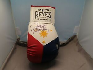 Manny Pacquiao Signed Cleto Reyes Boxing Glove Autograph Beckett BAS COA 1C