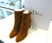 Christian Dior Camel Color Suede Pleaded Ankle Boots  Sz EU40