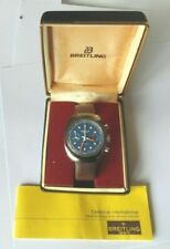 1977 Breitling Sprint Chronograph  Stainless/Steel  Mans Wristwatch Box & Paper