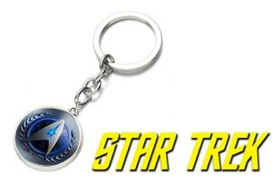 Star Trek Federation Logo keychain Collectible gift Spock kirk picard bones