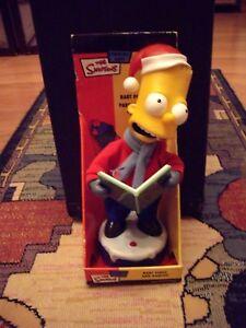 "Singing Christmas Carol 12"" Bart Simpson 2002 Gemmy WORKS"