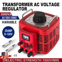 3KVA 30Amps Variac Variable Transformer 0-130V AC Voltage Regulator 30A USA