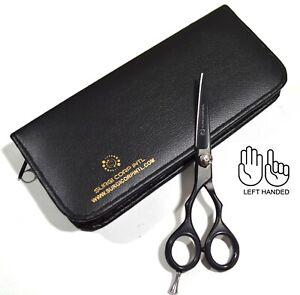 Professional Barber Hairdressing Scissor Haircutting Shear Left handed Black