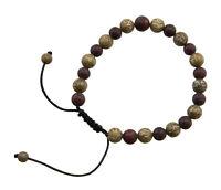 Braccialetto Mala Tibetano Rosario Perle IN Madreperla Da Corallo Ø9mm 836 Mu