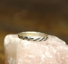Sterling Silver .925 Stackable Handmade Celtic Knot Band Ring Size 9.75 Wedding