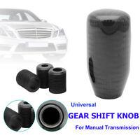 Universal Genuine Carbon Fiber Gear Stick Shift Knob Shifter Manual Transmission
