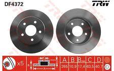 TRW Juego de 2 discos freno Trasero 265mm FORD FOCUS C-MAX CHANGAN MAZDA DF4372