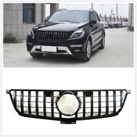 Black Front GTR Grille Grill For Mercedes Benz W166 ML300 ML350 ML400 2013-15 M