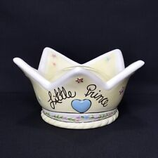 Blue Sky Clayworks 2006 Little Prince Crown Porcelain Coin Piggy Bank Rare Htf! 00004000