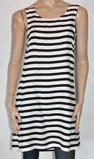 VERO MODA Designer Orange Black White Stripe Tunic Dress Size S BNWT #sQ78