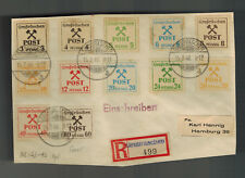 1946 Grossraschen East Germany Sachsen cover Front to Hamburg Local Issues Set