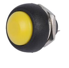 10PCS Yellow 12mm Waterproof momentary Push button Switch Mini Round Switch