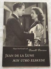 Jean de la Lune Danielle Darrieux Claude Dauphin Vtg 1949 Danish Movie Program