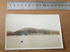 China WEI HAI WEI view of dockyard and island 1910 real photo postcard RARE