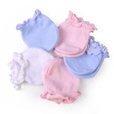 5prs nouveau-né Bébé gants en coton doux Garçon fille Mitaines anti-rayures 1-6m