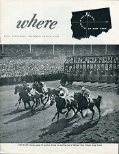 Vintage Entertainment Guide WHERE WHAT WHEN in New York Belmont Park June 6 1953