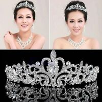 New Bridal Bridesmaid Wedding Prom Rhinestone Diamante Crown Tiara Headband Xmas
