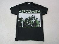Aerosmith Concert Shirt Adult Small Black Green Steven Tyler Rock Band Music Men