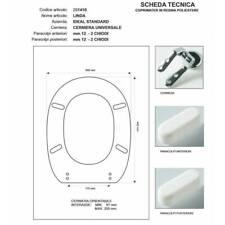 Copriwater Ideal Standard  LINDA VISONE I.S. Cerniera Cromo-Sedile-Asse Wc