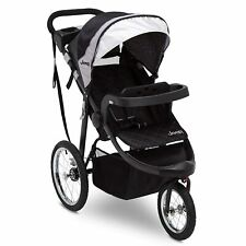 Jeep Stroller Jogging Buggy Toddler Carriage Jogger Black and Grey Kids Pushcart
