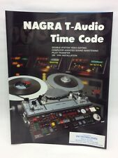 ORIGINAL UNUSED KUDELSKI NAGRA T-AUDIO W/  TIME CODE COLOR BROCHURE SWITZERLAND