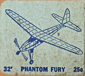 "32"" PHANTOM FURY Balsa Rubber Power Free Flight Model Airplane Kit COMET #E24"