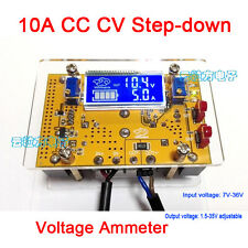10A DC-DC Adjustable CC CV Step-down Power Supply 12v 5v + LCD volt amp Ammeter