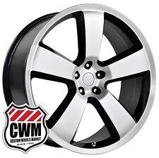 "OE Performance 119B 20 inch 20x9"" Dodge Charger SRT8 Black Machined Wheels Rims"