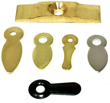 TURN BUTTONS - BRASS BLACK NICKEL - PICTURE FRAME HOOKS LATCH CATCH BUTTON CLIP