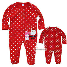 0-3M Newborn Baby Girl Long Sleeve Christmas Jumpsuit Romper Climbing Clothes