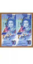 EAST CARIBBEAN 10 DOLLAR Banknote. 10 Eastern Caribbean Note. Unc Bill. Single