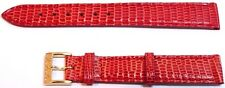 CHRISTIAN DIOR Lizard Leather Watch Strap Band 14 x 12 mm with Buckle Red OEM