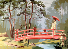 Oriental Garden  Scene  Paint By Number  Refrigerator / Tool  Box  Magnet