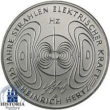 Deutschland 10 Euro 2013 bfr. Heinrich Hertz Münze in Münzkapsel