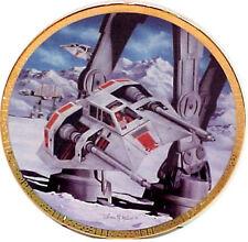Star Wars Snow Speeders Space Vehicles Series Ceramic Plate, Hamilton, w/Box